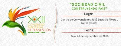 XXII CONGRESO NACIONAL DE PLANEACIÓN